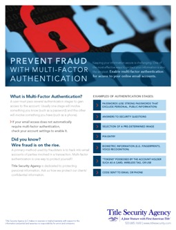 Prevent Fraud with MFA